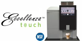 Eccellenza Touch Bean to Cup Brewer, bean to cup coffee maker